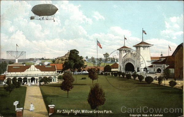 Air Ship Flight over Willow Grove Park Aircraft
