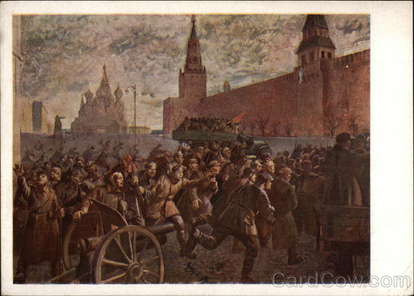 The Taking of the Kremlin 1917 by N. Kotoff Art