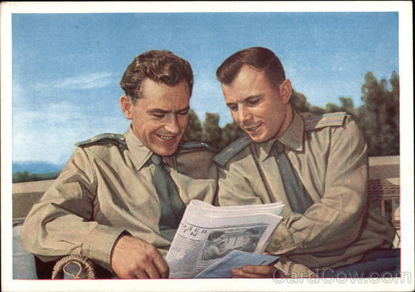 Two Soviet Soldiers reading the Newspaper Military