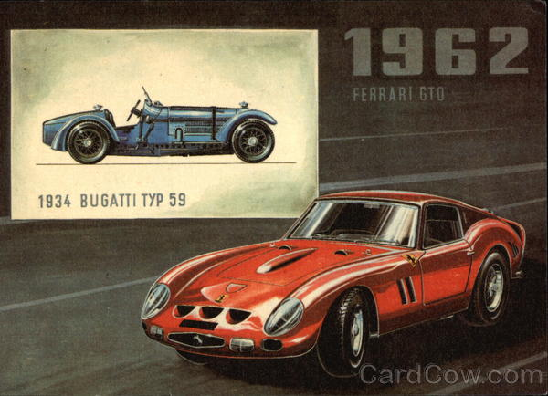 1934 Bugatti TYP 59 and 1962 Ferrari GTO Cars