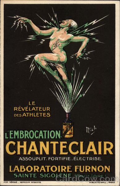 L'Embrocation Chanteclair Advertising Poster Style