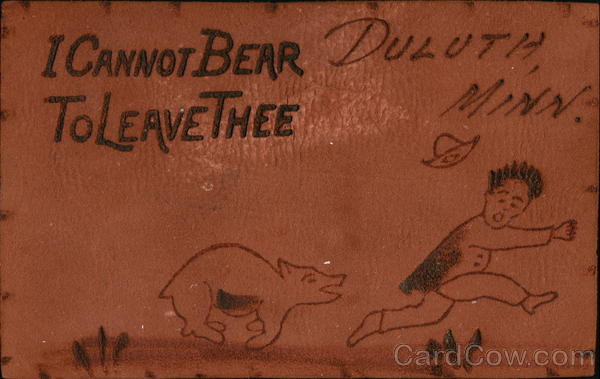 I Cannot Bear to Leave Thee Vintage Post Card