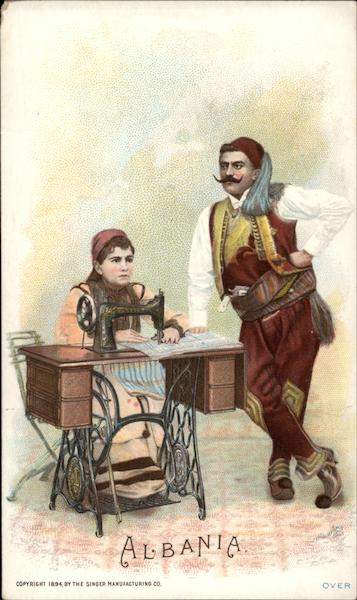 Albania - Singer Sewing Machine Trade Cards