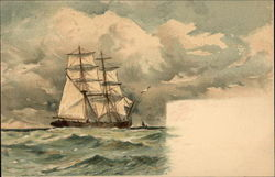 Clipper Ship on the Waves
