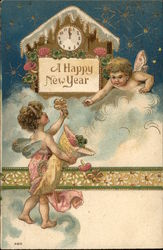 A Happy New Year with Clock & Cherubs