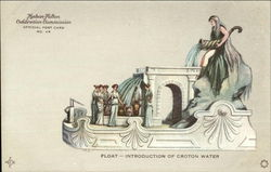 Float - Introduction of Croton Water, Hudson-Fulton Celebration Commission Official Post Card