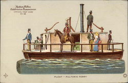 Float - Fulton's Ferry, Hudson-Fulton Celebration Commission Official Post Card