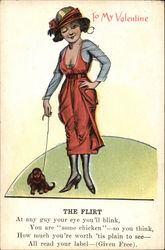 The Flirt Valentine Woman and Dog