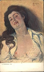 """Stella"" - Brunette Woman with Bare Breast Showing"