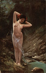 Nude Woman Beside a Stream