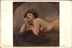 Nude Woman Lying on Stomach