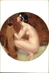 """The Vanquished"" - Nude Woman Kneeling"