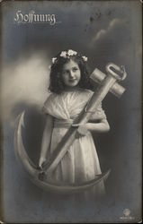 """Hope"" - Young Girl Holding Large Anchor"