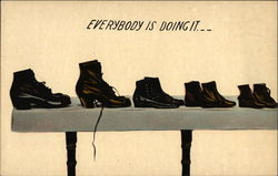 "Five Pairs of Shoes on a Table - ""Everybody is Doing It"""