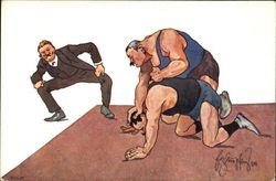 Wrestling Match Cartoon