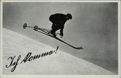 Skier Making a Jump