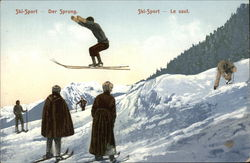 Ski Jump on a Mountain