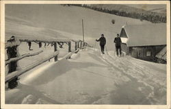 Skiers at a Lodge