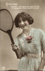 Cupid's Game - Love-all - the Game She Plays so Well, All Sportsmen Come Beneath Her Spell