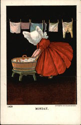 Child Washing Clothes