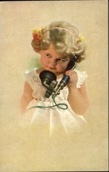 Little Girl on the Telephone