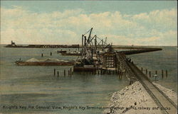 Knight's Key, Fla. General View, Knight's Key Terminal Construction Works, Railway and Docks