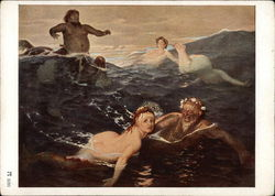 Devils and Beautiful Ladies.Ladies in Distress caught in Water