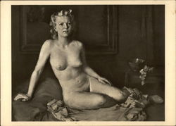 Nude Woman Sitting on Bed