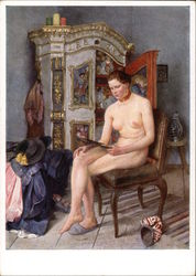 """Vanity"" - Nude Woman Seated on Chair"