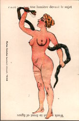French Work A Light - Nude Woman with Snake