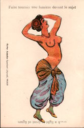 Erotic French Work A Light - Topless Woman Dancing