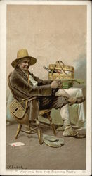 Older Gentleman With Fishing Gear and Picnic Basket