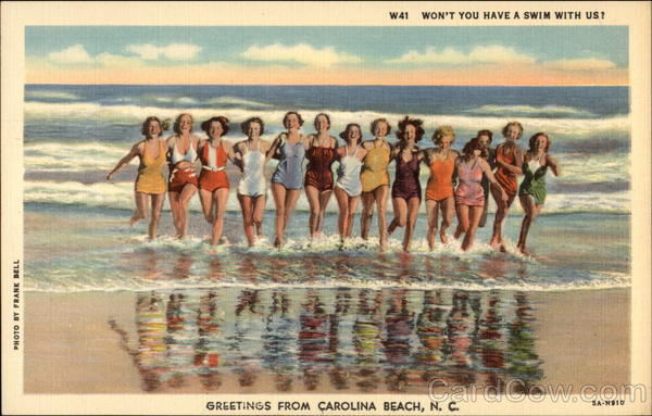 Won't You Have a Swim with US? - Greetings from Carolina Beach North Carolina