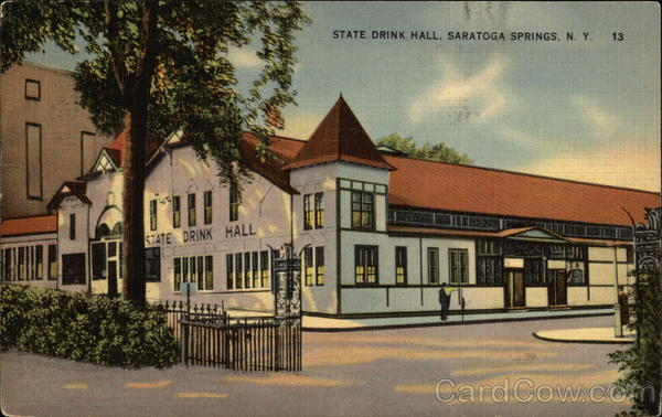 State Drink Hall Saratoga Springs New York