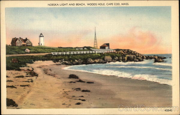 Nobska Light and Beach at Woods Hole Cape Cod Massachusetts