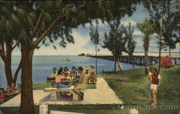 Picnicking and Fishing along Courtney Campbell Parkway Clearwater Florida