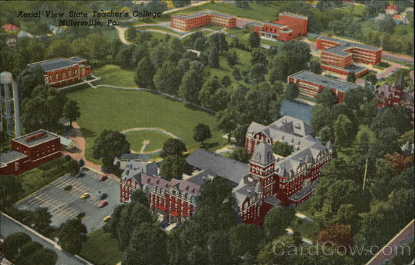 Aerial View of State Teacher's College Millersville Pennsylvania
