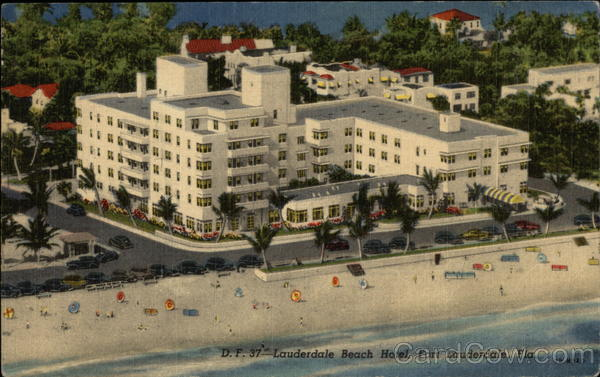 Aerial View of Lauderdale Beach Hotel Fort Lauderdale Florida