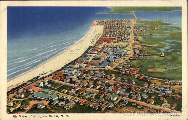 Air View of Hampton Beach, NH New Hampshire
