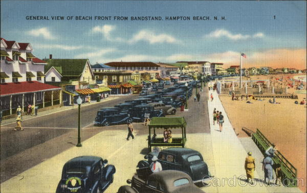 General View of Beach Front from Bandstand Hampton Beach New Hampshire