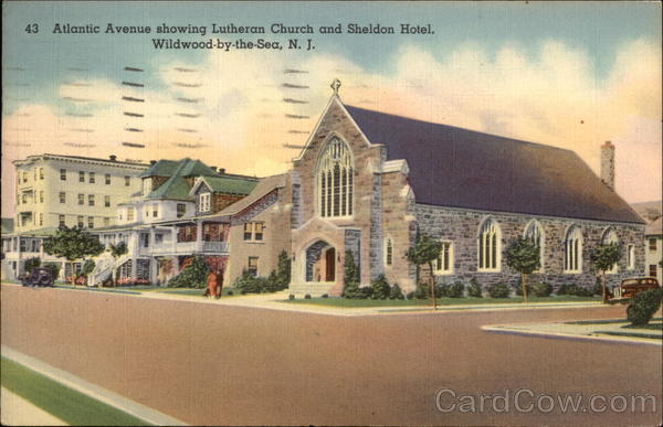 Atlantic Avenue - Lutheran Church and Sheldon Road Wildwood-by-the-Sea New Jersey