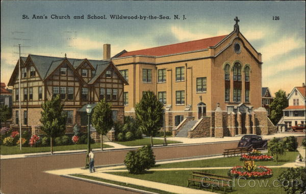 Street View of St Ann's Church and School Wildwood-By-The-Sea New Jersey