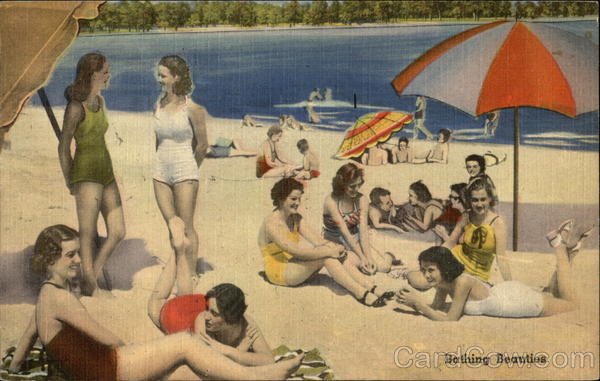 Bathing Beauties - Women on the Beach Swimsuits & Pinup