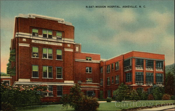 View of Mission Hospital Asheville North Carolina
