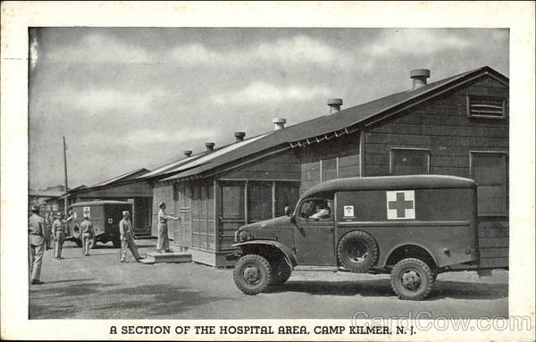 A Section of the Hospital Area Camp Kilmer New Jersey