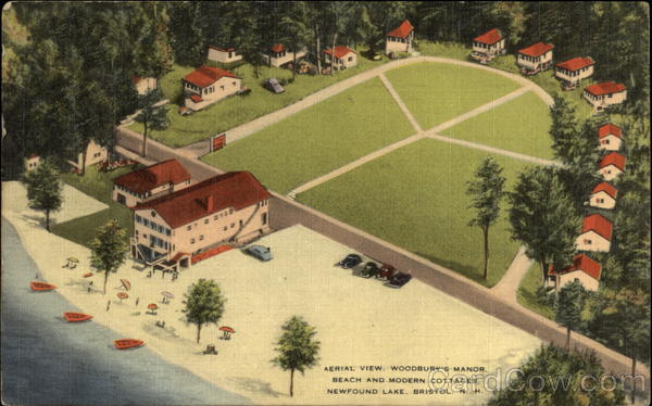 Aerial View WOodbury's Manor, Beach and Modern Cottages Bristol New York