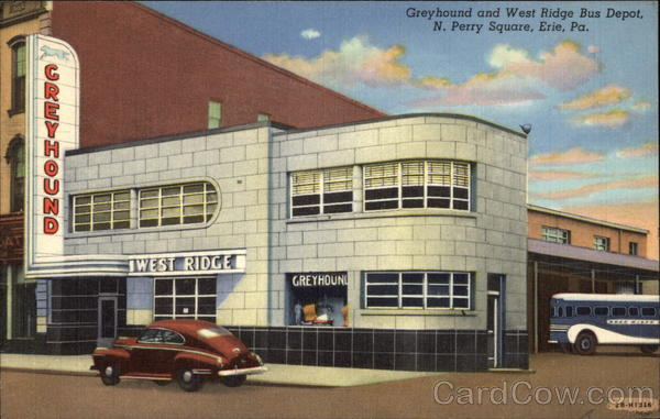 Greyhound and West Ridge Bus Depot, N. Perry Square Erie Pennsylvania