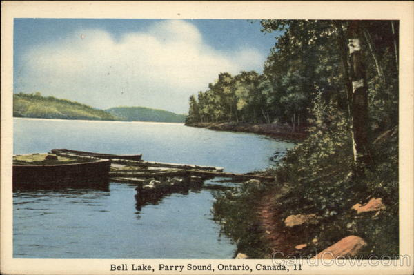 Scenic View of Bell Lake Parry Sound Canada Ontario