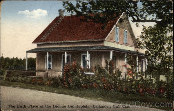 Birth Place of the Dionne Quintuplets Callander Canada