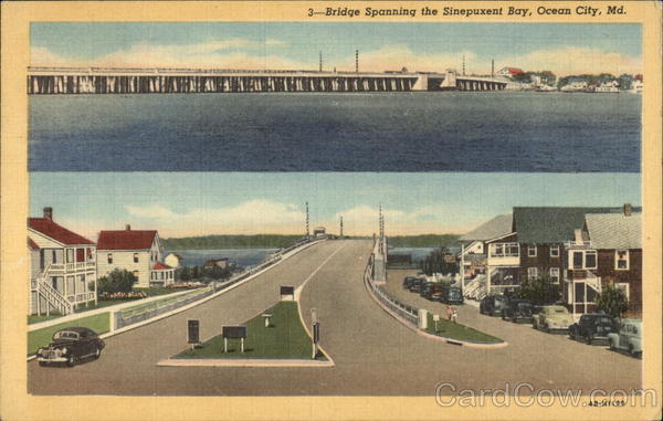 Bridge Spanning the Sinepuxent Bay Ocean City Maryland